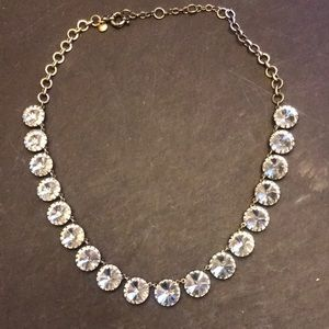 Simple crystal necklace by J Crew